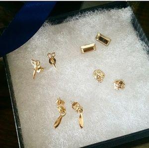 🆕 JewelMint | Set of 4 Gold Stud Earrings